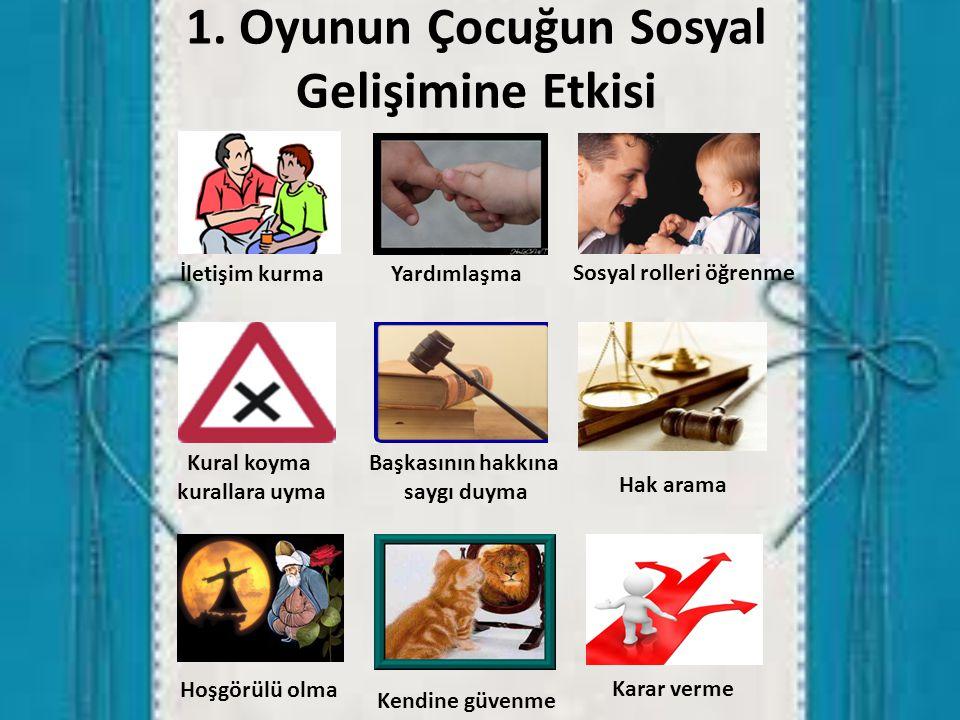 1. Oyunun Çocuğun Sosyal Gelişimine Etkisi
