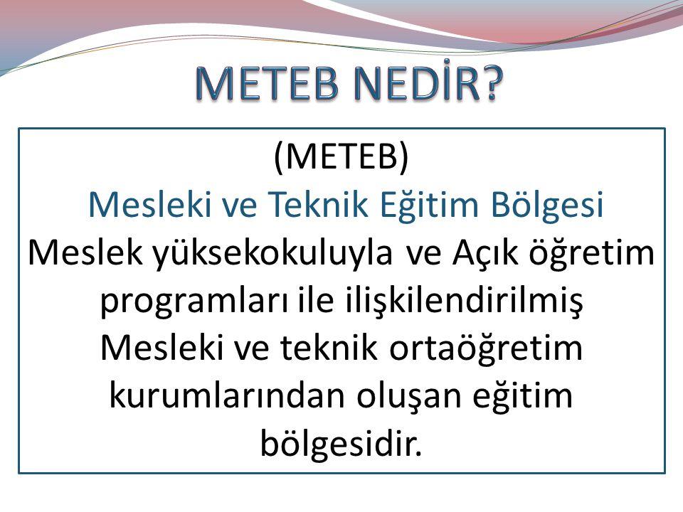 METEB NEDİR (METEB) Mesleki ve Teknik Eğitim Bölgesi