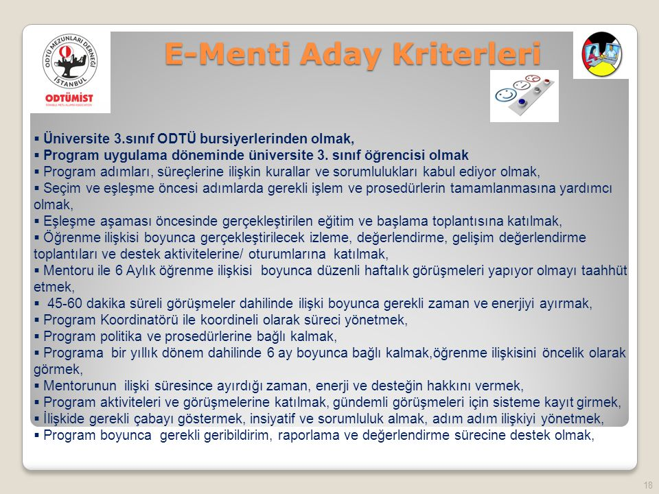 E-Menti Aday Kriterleri