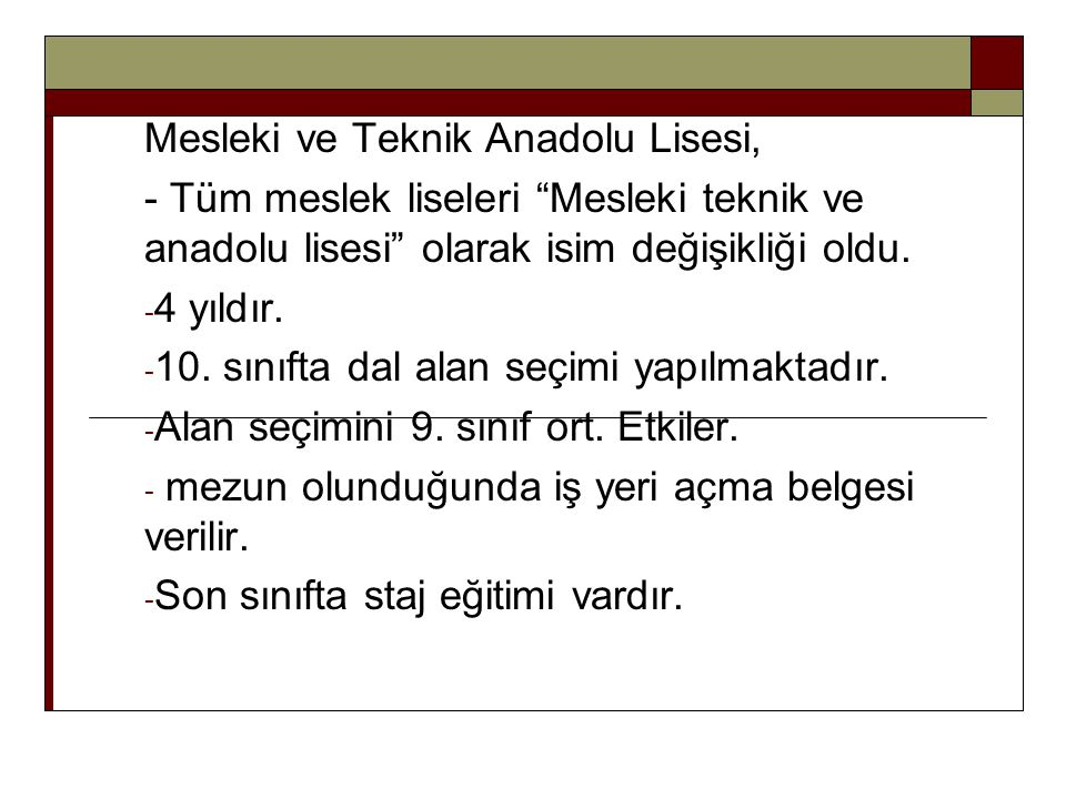 Mesleki ve Teknik Anadolu Lisesi,