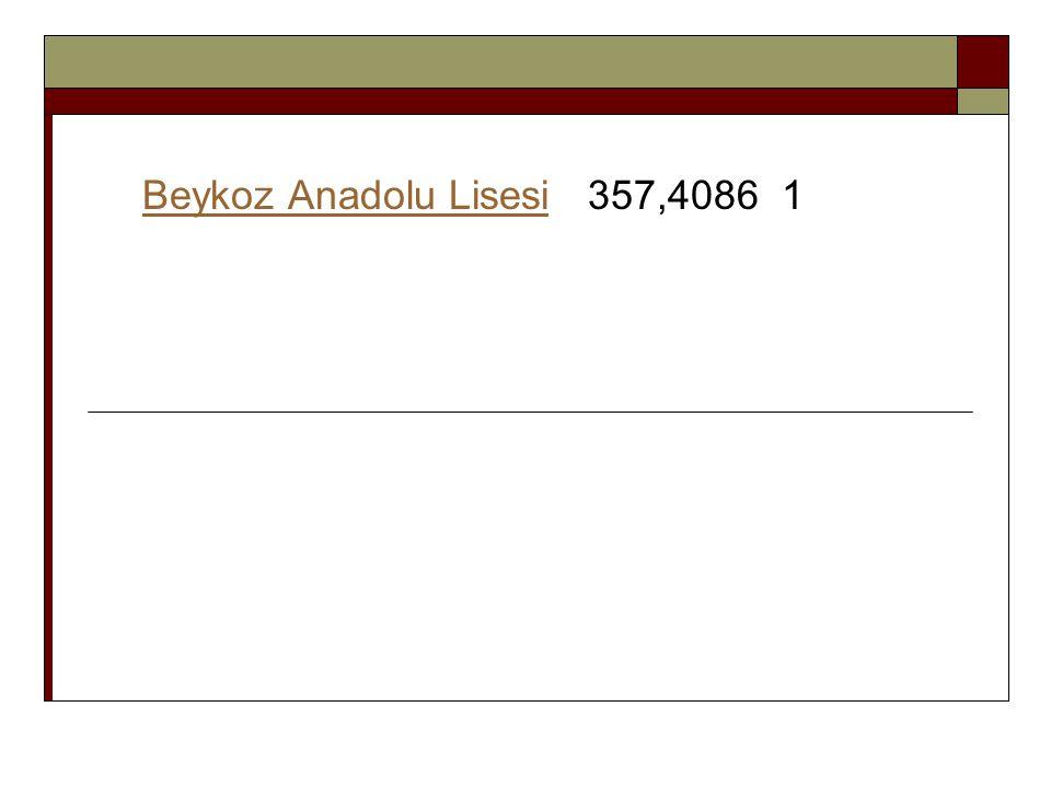 Beykoz Anadolu Lisesi 357,4086 1
