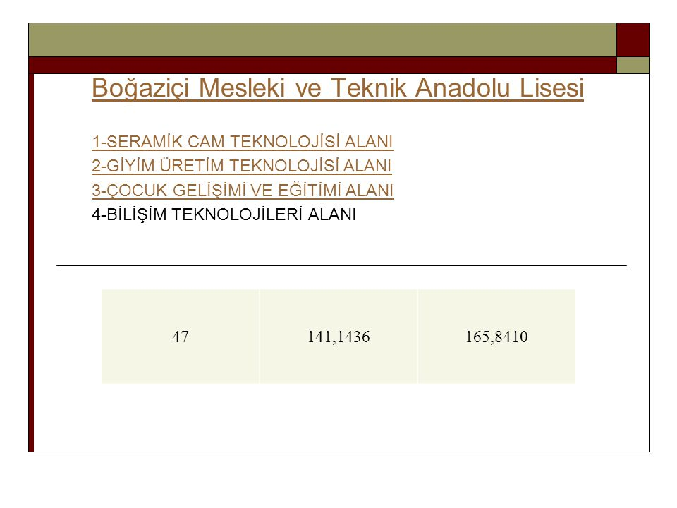 Boğaziçi Mesleki ve Teknik Anadolu Lisesi