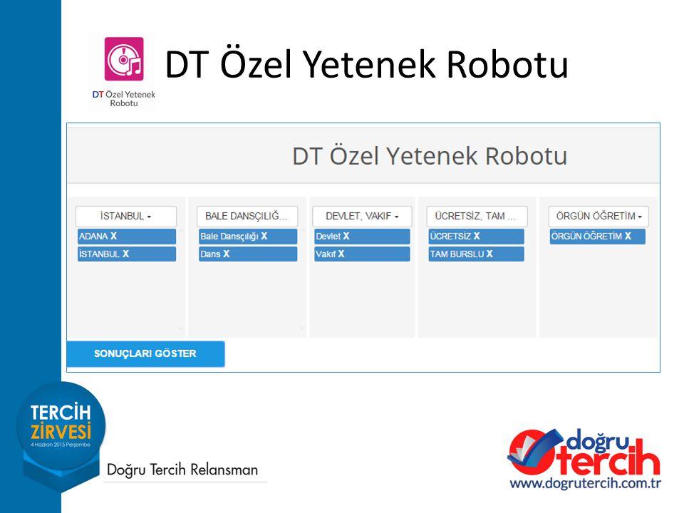 DT Özel Yetenek Robotu