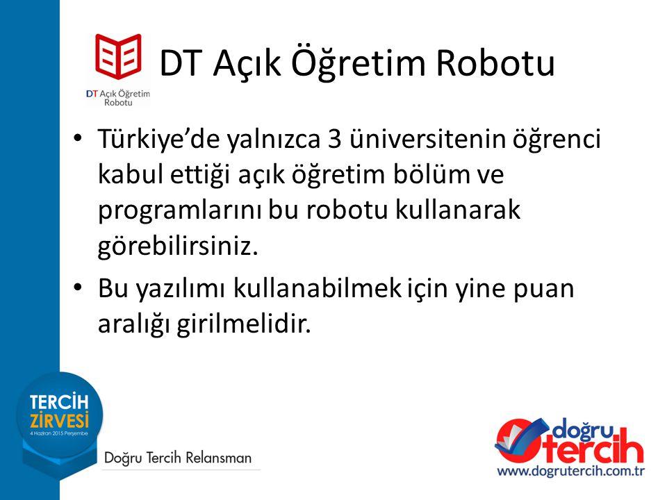 DT Açık Öğretim Robotu