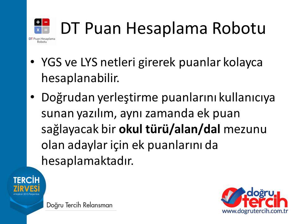 DT Puan Hesaplama Robotu