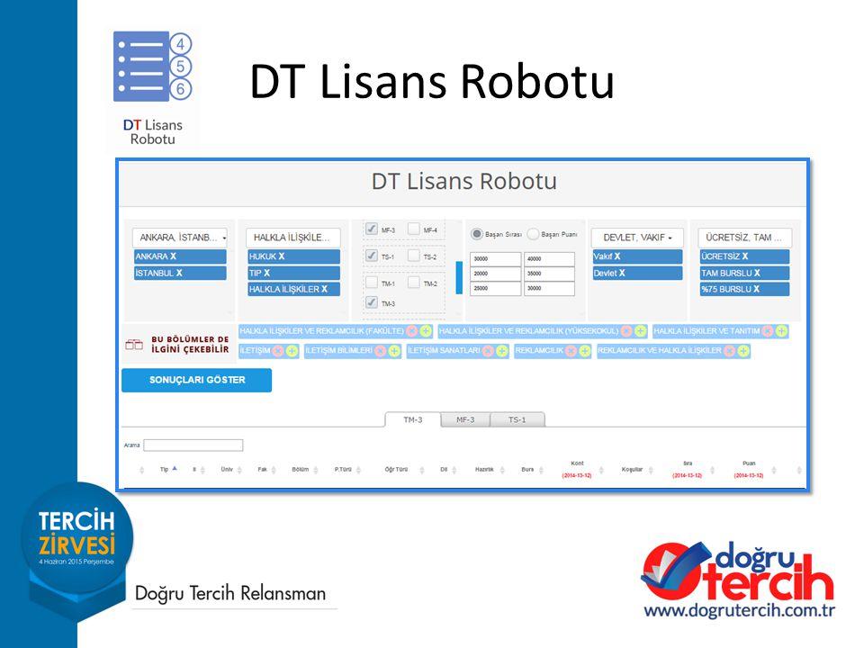 DT Lisans Robotu