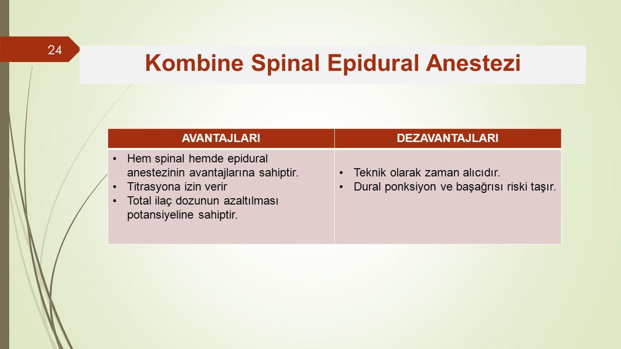 Kombine Spinal Epidural Anestezi
