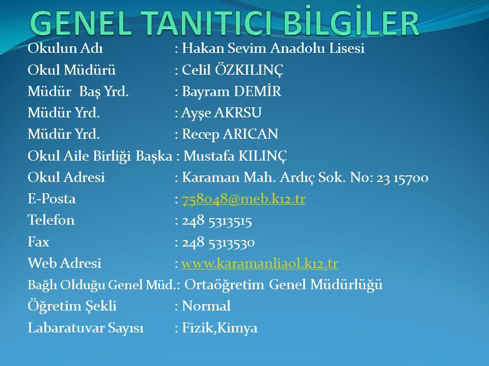 GENEL TANITICI BİLGİLER