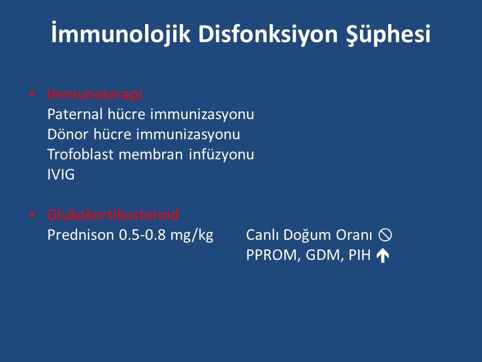 İmmunolojik Disfonksiyon Şüphesi