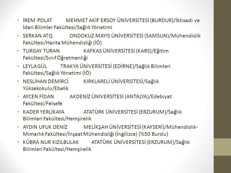 İREM POLAT MEHMET AKİF ERSOY ÜNİVERSİTESİ (BURDUR)/İktisadi ve İdari Bilimler Fakültesi/Sağlık Yönetimi