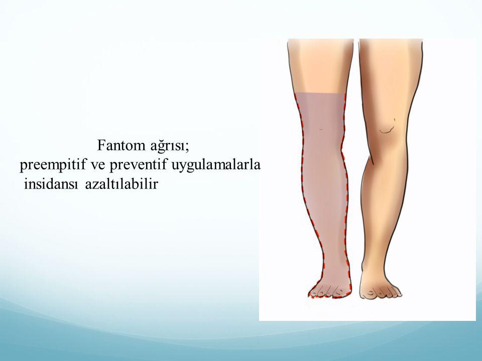 Fantom ağrısı; preempitif ve preventif uygulamalarla insidansı azaltılabilir