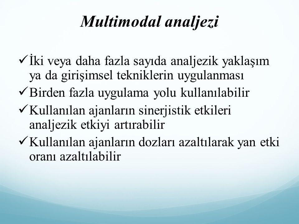 Multimodal analjezi İki veya daha fazla sayıda analjezik yaklaşım ya da girişimsel tekniklerin uygulanması.