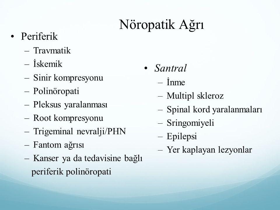 Nöropatik Ağrı Periferik Santral Travmatik İskemik Sinir kompresyonu