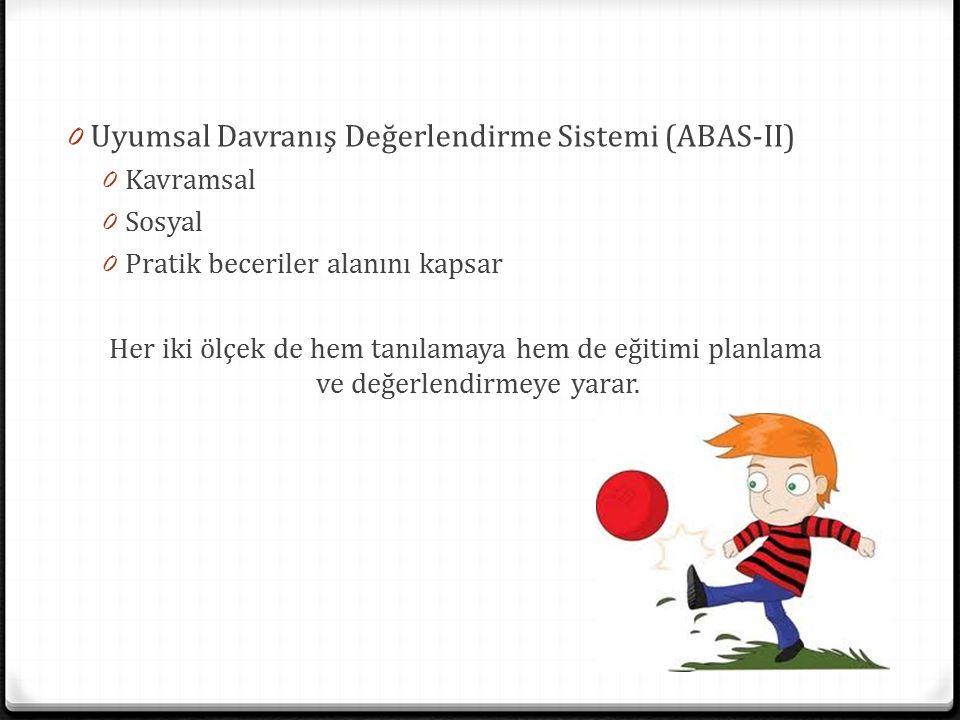 Uyumsal Davranış Değerlendirme Sistemi (ABAS-II)