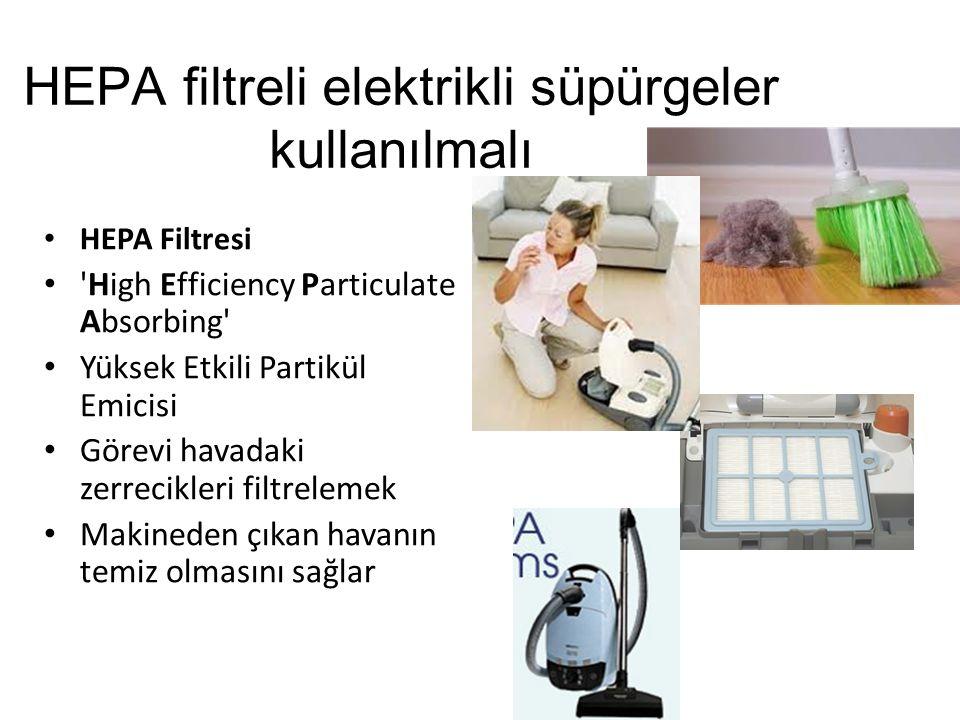 HEPA filtreli elektrikli süpürgeler kullanılmalı