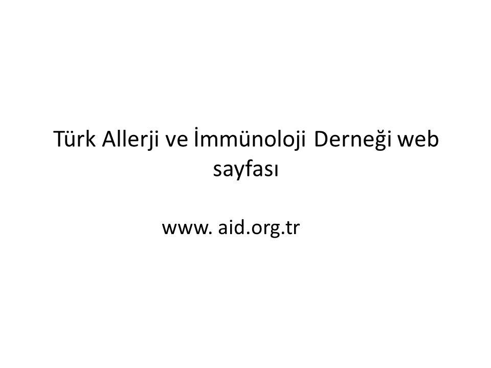 Türk Allerji ve İmmünoloji Derneği web sayfası