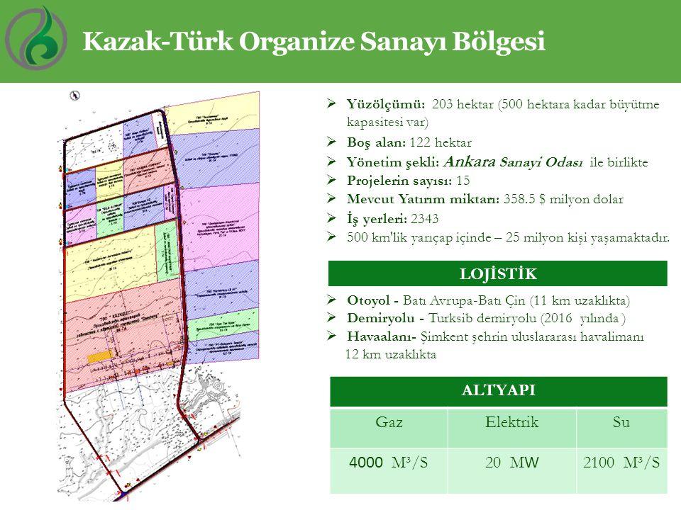 Kazak-Türk Organize Sanayı Bölgesi