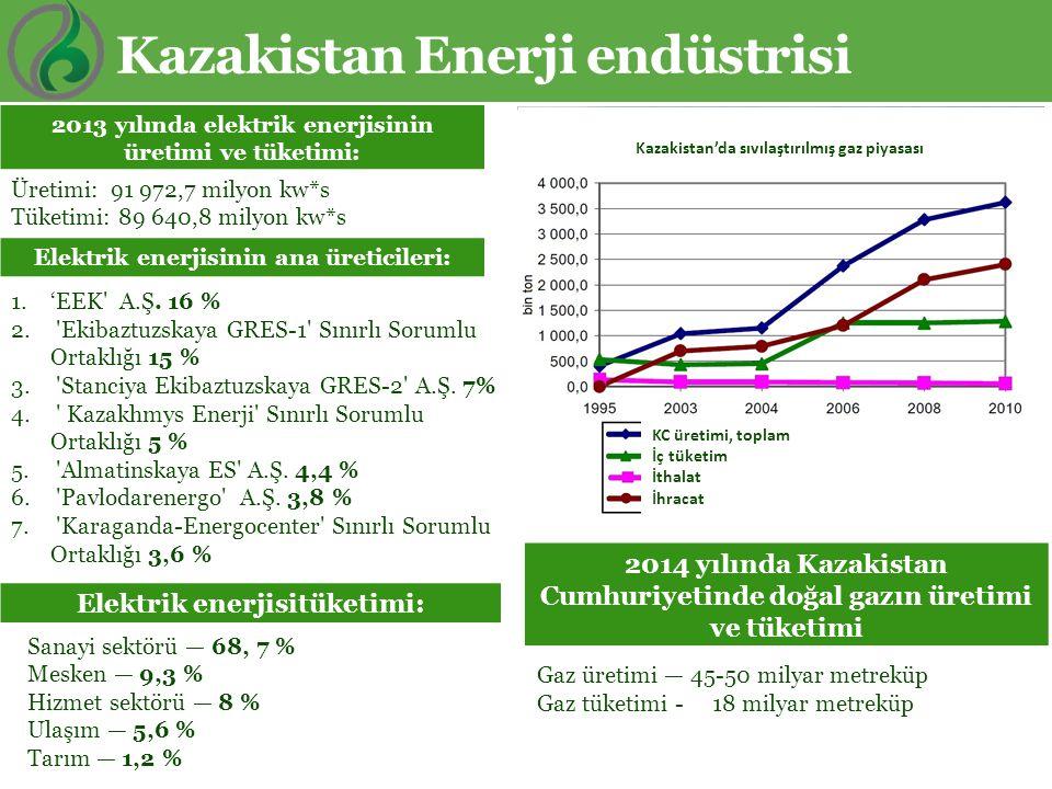 Kazakistan Enerji endüstrisi