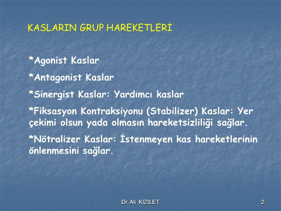 KASLARIN GRUP HAREKETLERİ