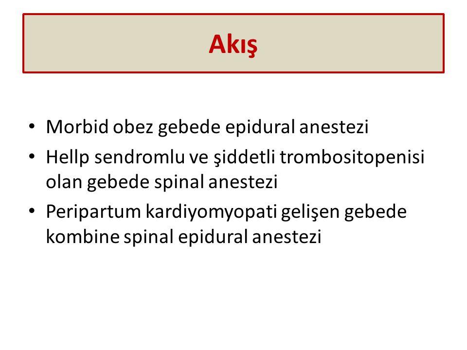 Akış Morbid obez gebede epidural anestezi