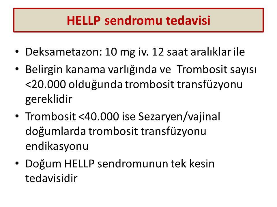 HELLP sendromu tedavisi