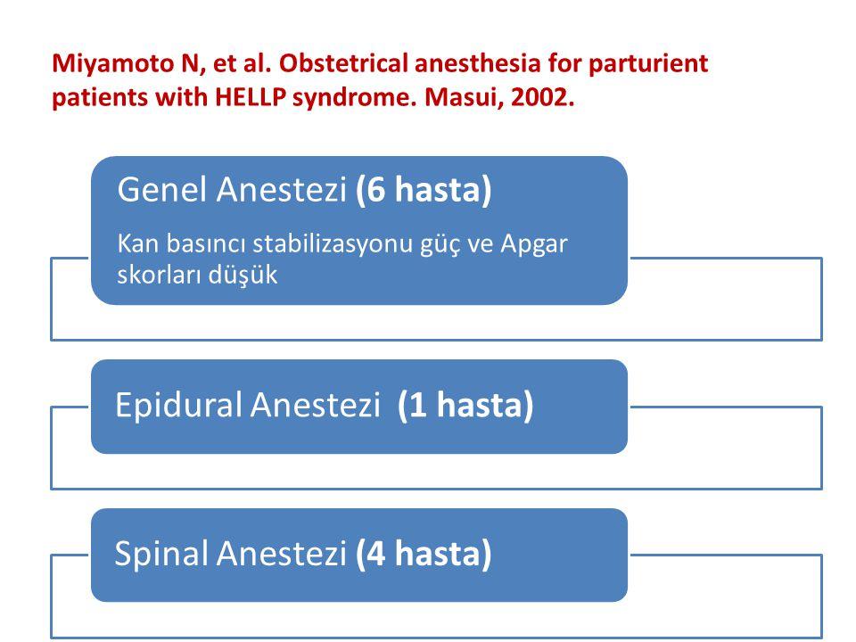 Genel Anestezi (6 hasta)