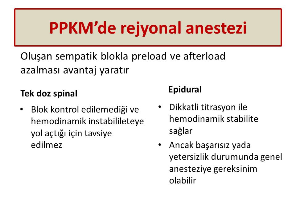PPKM'de rejyonal anestezi