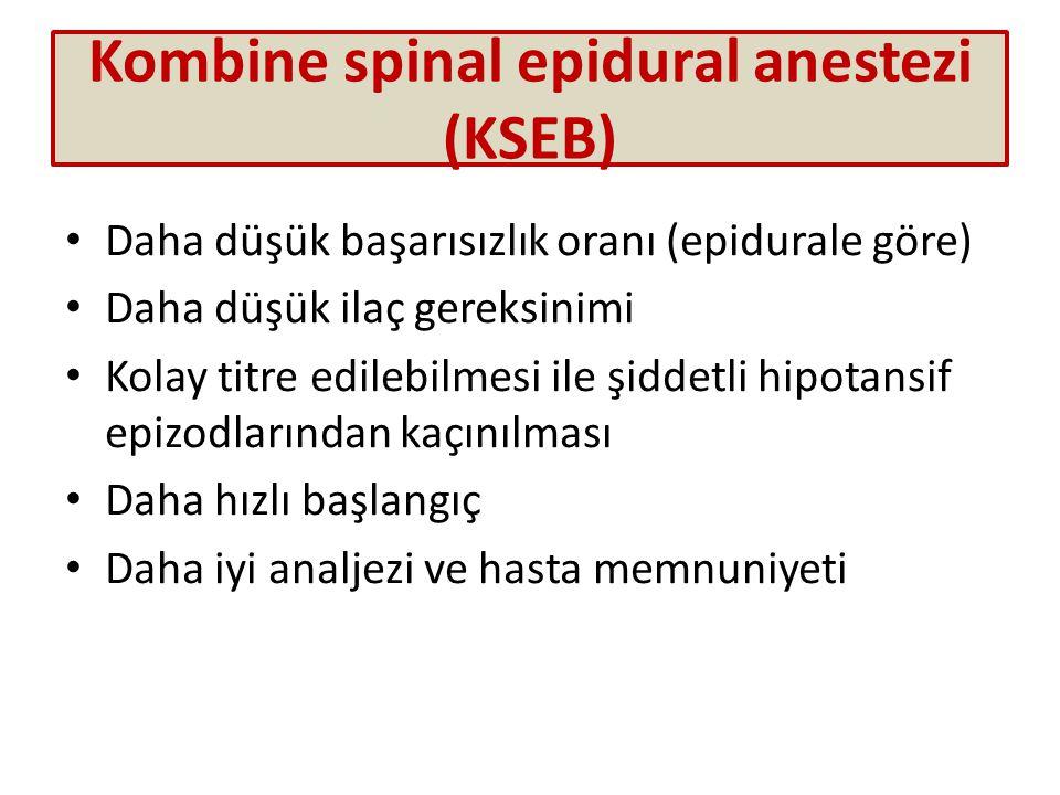 Kombine spinal epidural anestezi (KSEB)