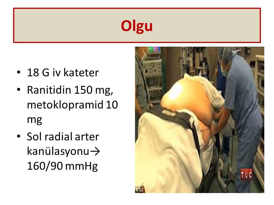 Olgu 18 G iv kateter Ranitidin 150 mg, metoklopramid 10 mg