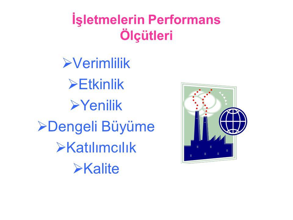 İşletmelerin Performans Ölçütleri