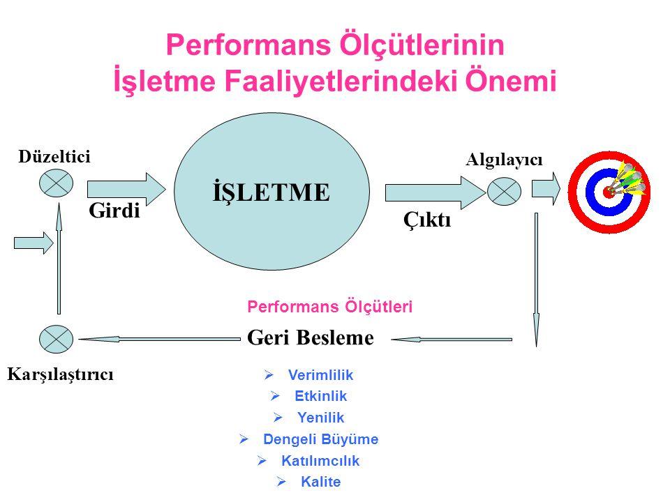 Performans Ölçütlerinin İşletme Faaliyetlerindeki Önemi