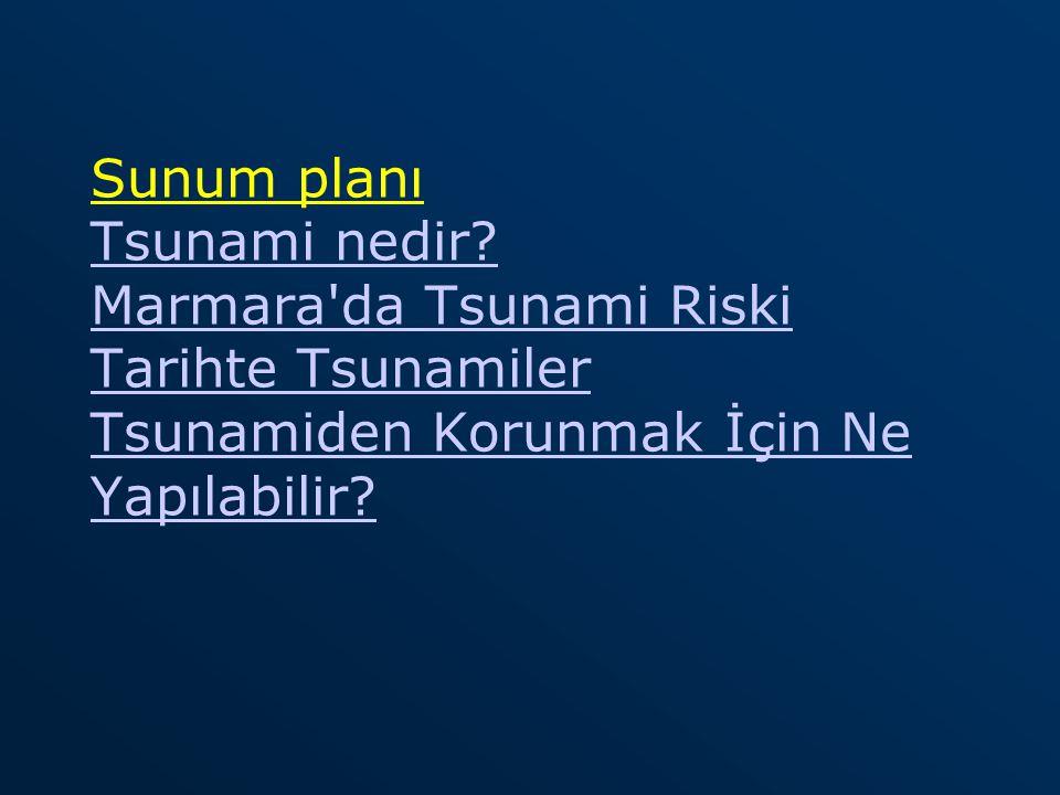 Sunum planı Tsunami nedir
