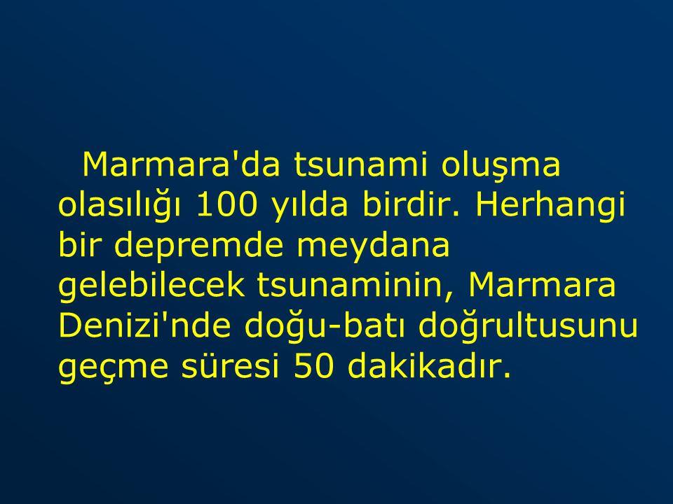 Marmara da tsunami oluşma olasılığı 100 yılda birdir