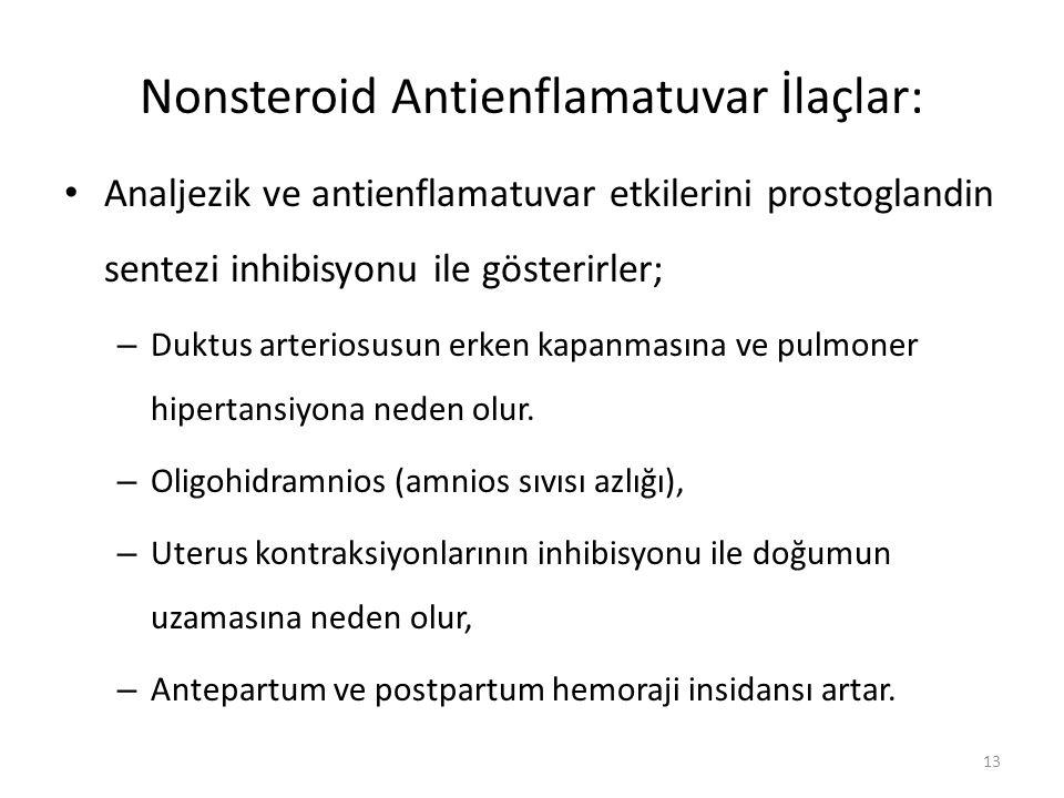 Nonsteroid Antienflamatuvar İlaçlar: