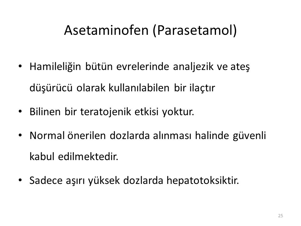 Asetaminofen (Parasetamol)