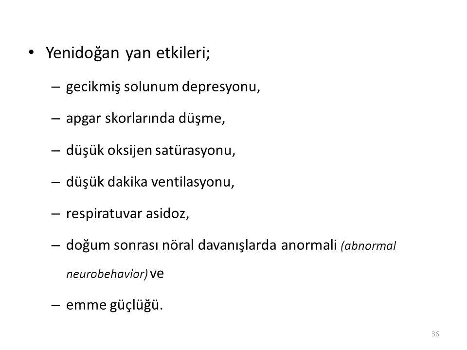 Yenidoğan yan etkileri;