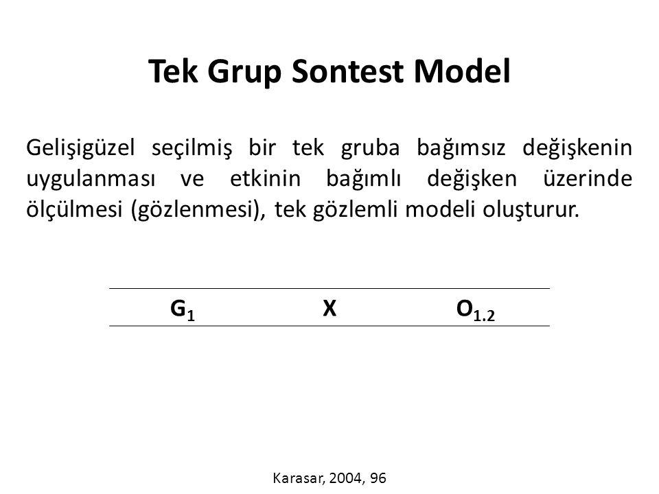 Tek Grup Sontest Model