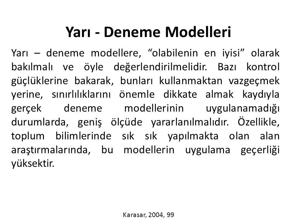 Yarı - Deneme Modelleri