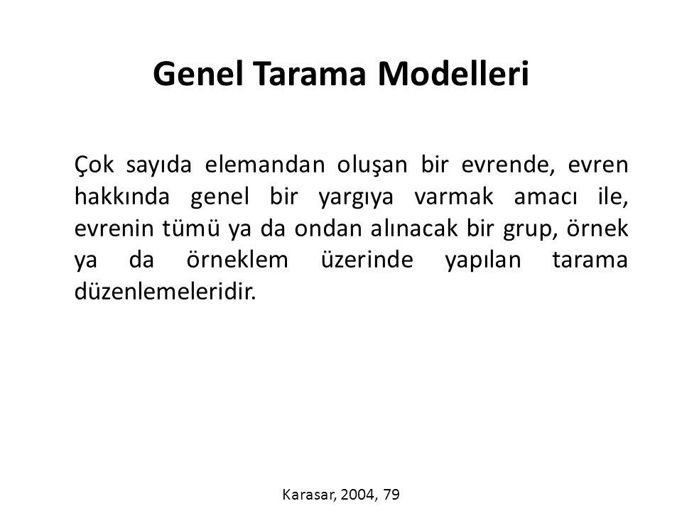 Genel Tarama Modelleri