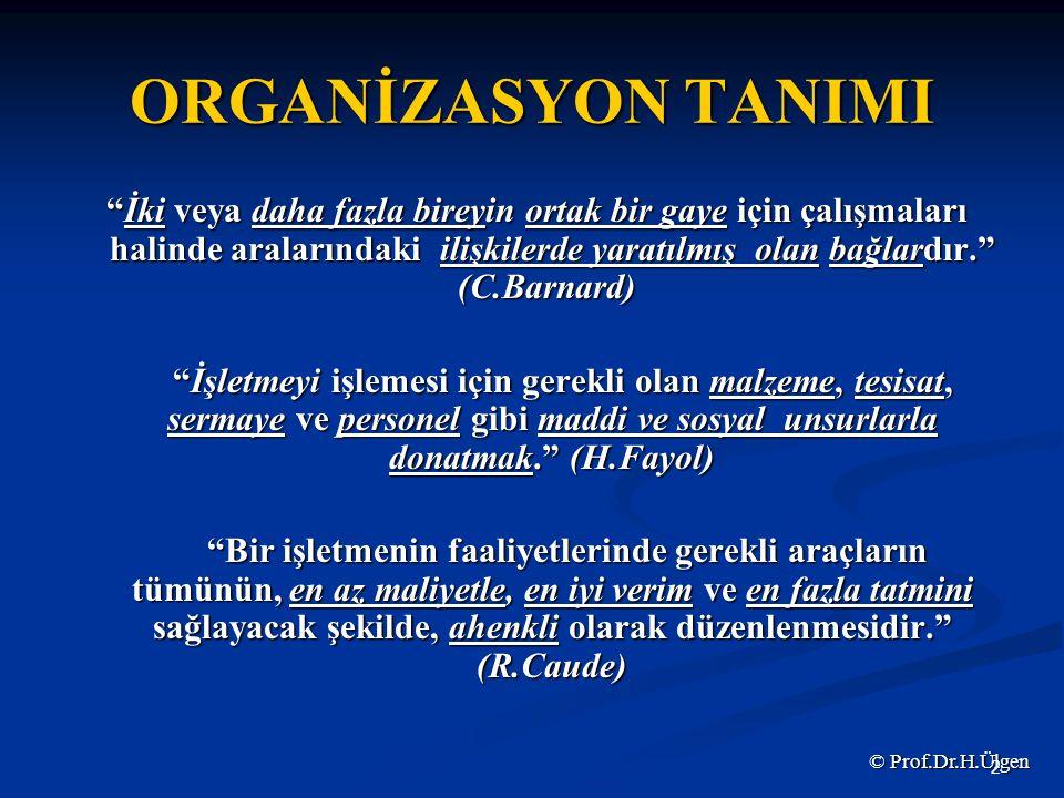 ORGANİZASYON TANIMI