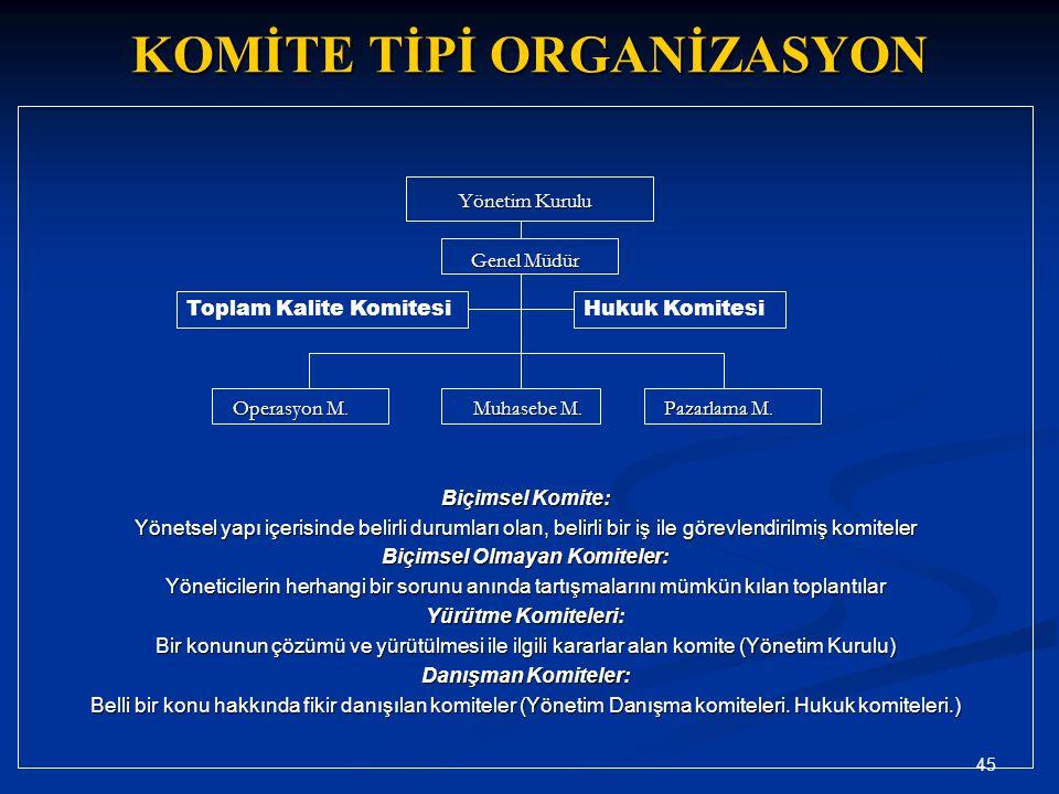 KOMİTE TİPİ ORGANİZASYON