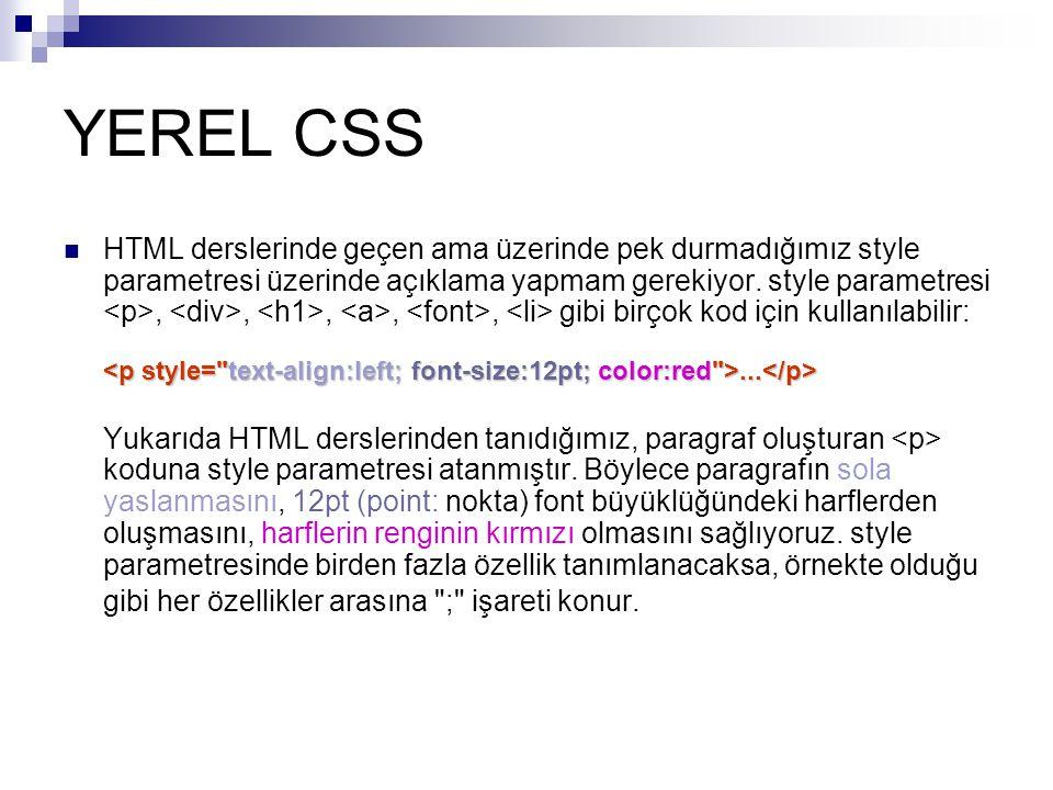 YEREL CSS