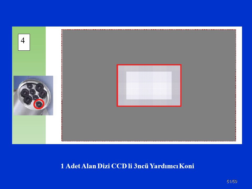 1 Adet Alan Dizi CCD li 3ncü Yardımcı Koni