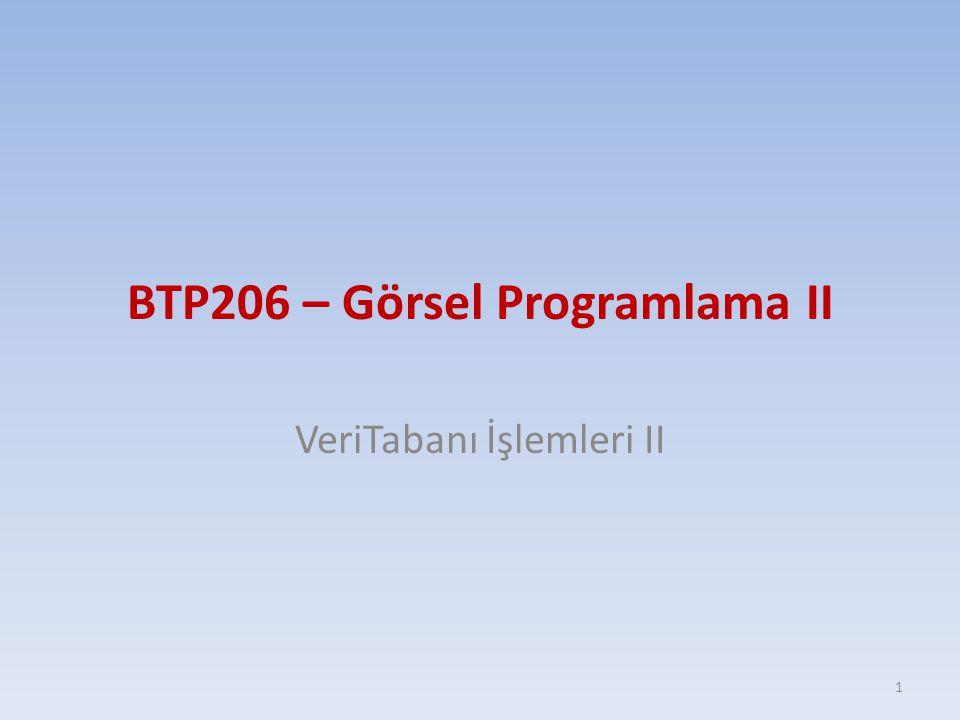 BTP206 – Görsel Programlama II