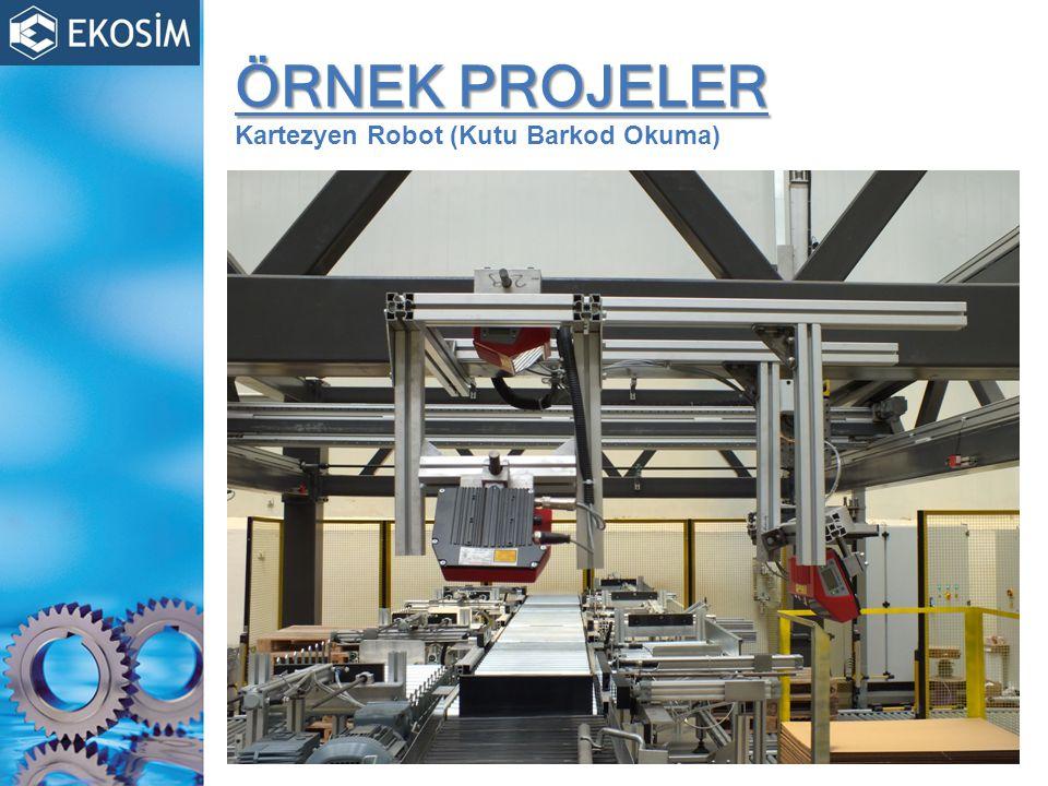 ÖRNEK PROJELER Kartezyen Robot (Kutu Barkod Okuma)