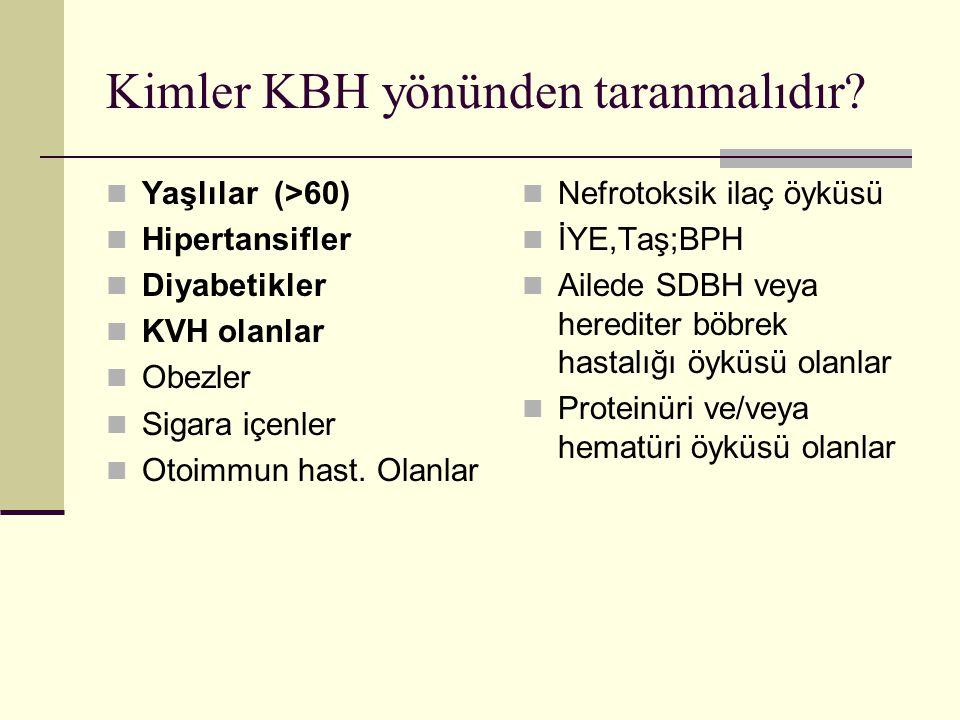 Kimler KBH yönünden taranmalıdır