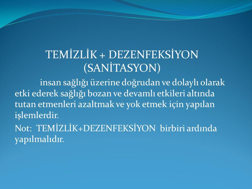 TEMİZLİK + DEZENFEKSİYON (SANİTASYON)