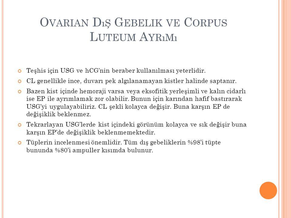 Ovarian Dış Gebelik ve Corpus Luteum Ayrımı