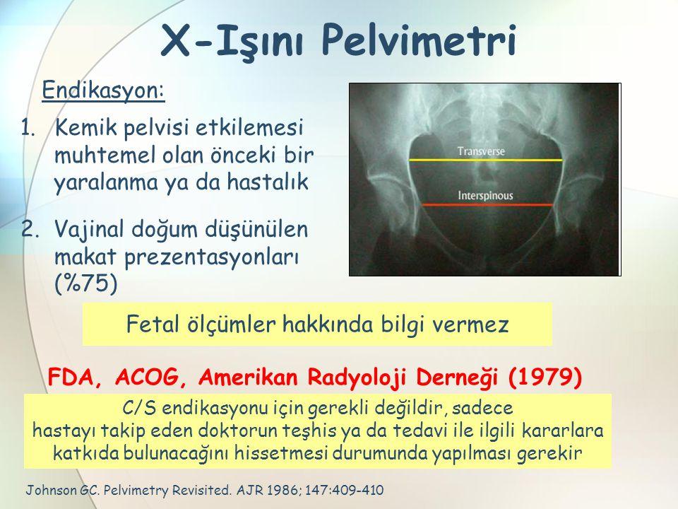 X-Işını Pelvimetri Endikasyon: