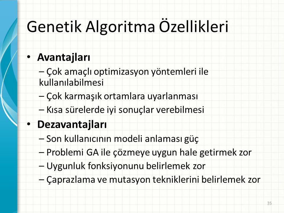 Genetik Algoritma Özellikleri